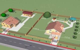 Нормативы расположения строений на земельном участке
