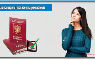 Единый центр документов проверка готовности загранпаспорта