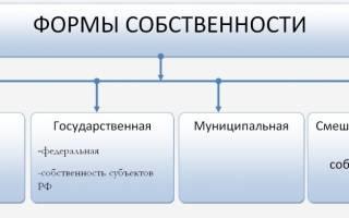 Формы собственности на землю по законодательству РФ