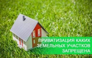 Приватизация каких земельных участков запрещена