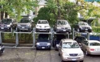 Организация парковки во дворе жилого дома