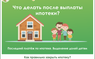 Оформление собственности на квартиру после выплаты ипотеки